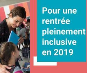 Pour une rentrée pleinement inclusive en 2019