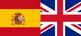 Drapeaux espagnol-anglais miniature