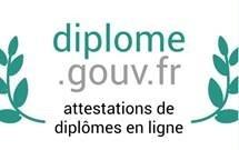 diplome.gouv.fr vous permet de télécharger une attestation de diplôme. (nouvelle fenêtre)